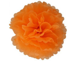 Помпон бумажный, Оранжевый, 46см. Арт1545