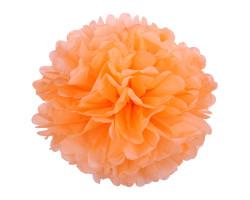 Помпон бумажный, Светло-оранжевый, 46см. Арт1549