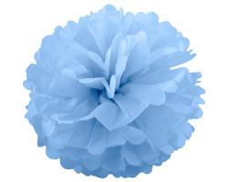 Помпон бумажный, Голубой, 30см. Арт1551