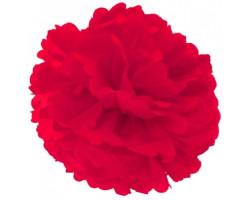 Помпон бумажный, Красный, 30см. Арт1555