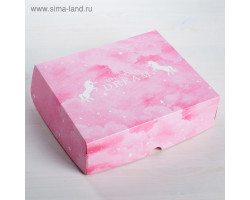 """Коробка для кондитерских изделий """"Unicorn Dream """", 17*20*6 см. Арт4746047"""