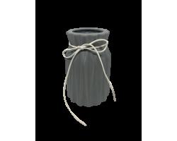 Ваза керамическая матовая Серая 8*9*18. 020-4